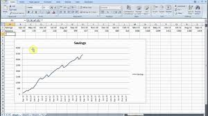savings excel spreadsheet track savings with excel part 1 graph and targets youtube