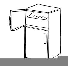 refrigerator clipart black and white.  Black Download This Image As Throughout Refrigerator Clipart Black And White K