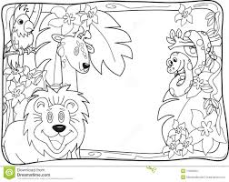 Jungle Animals Coloring Pages Photo Inspirations Animal Printable