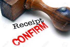 Confirm Of Receipt Receipt Confirm