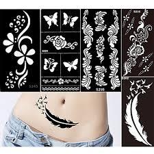 839 8pcs Různé Vzory Třpytka Tetování Henna Třpytka Tetování šablony Dívky Dospělé Pvc