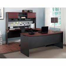 u shaped desk office depot. U Shaped Desk With Hutch Unique Black Particle Wood Fice Dark Brown Office Depot