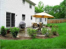 square patio designs. Landscape, Astounding Green Round Traditional Grass Landscaping Ideas Around Patio Ornamental Relaxing Space And Trees Square Designs