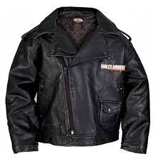 harley davidson baby boys upwing eagle biker pleather jacket black 0366074