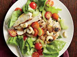 garden salad with chicken. Beautiful With Grilled Chicken Salad With Orange Vinaigrette For Garden With E