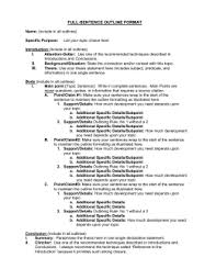 full sentence outline five paragraph essay rules of outlining jenks public schools
