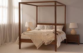 Four Poster Bed Orchid Four Poster Bed Solid Wood Natural Bed Company