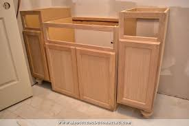furniture style bathroom vanity from stock cabinets 11
