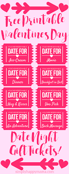 Free Printable Valentines Day Coupons Valentines Day For
