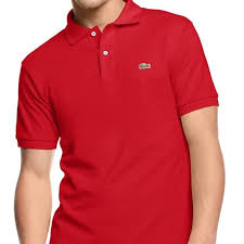 Lacoste Red Polo Short Sleeved