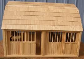 breyer 277 breyer horse 2 stall wood barn pine horse barn 2 stall wood le