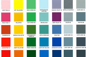 Bike Paint Colour Chart Ys Painting Code