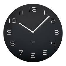 quality glass wall clock 35cm round