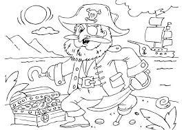 Kleurplaat Piraat Met Schatkist Afb 25979 Images