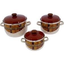 Купить <b>Набор эмалированной посуды 3</b> предмета Idilia Тын (I946 ...