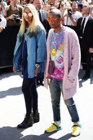 chanel x pharrell. chanel pink cardigan; pharrell williams x r
