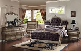 Meridian Bedroom Furniture Meridian Roma King Upholstered Panel Bed In Antique Silver