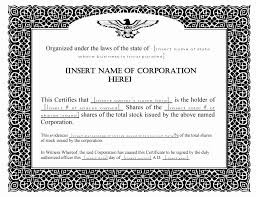 Template For Stock Certificate 30 Stock Certificate Template Word Pryncepality