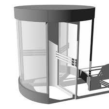 designer revolving door with 3 doors diameter of