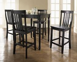 black high table and chairs ideas rustic bistro sets pub set white leather upholstery bar