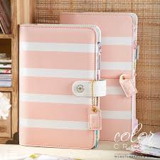 Blush Stripe Personal Planner Kit Websters Pages Color Crush Free