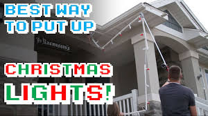 How To Fasten Christmas Lights To House The Best Way To Put Up Christmas Lights