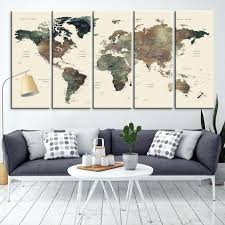 large wall art large wall art world map canvas print custom world map push pin wall large wall art  on extra large fabric wall art with large wall art large fabric wall art diy raition fo