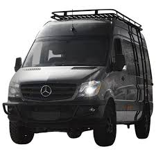 This new roof rack was designed to work around the most common vent sizes and locations. Aluminess 210425 High Roof Rack For Mercedes Sprinter Van 2003 2017 Bumper Superstore