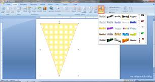 How To Make A Bunting Banner In Word