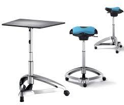 dolpdhin futuristic metal standing office desk and seats