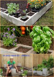 brilliant gardening project how to make a raised garden bed using cement blocks