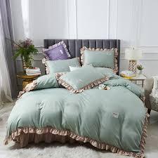 lilac satin queen bedding set