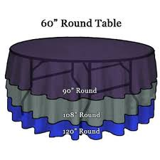 round linens on 60 round tables