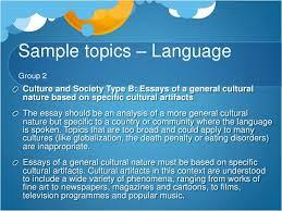 choosing a topic <br > 24 sample topics