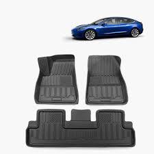 black tpe waterproof <b>car floor mat for</b> tesla model 3 all-weather fits ...