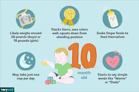 One Month Old Baby Milestone Your 10 Month Old Baby Development Milestones