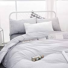 grey and white striped duvet cover. Interesting Duvet Wake In Cloud  Gray White Striped Duvet Cover Set 100 Cotton Bedding For Grey And E
