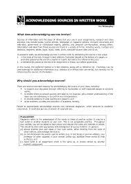 Acknowledging Sources In Written Work Manualzzcom