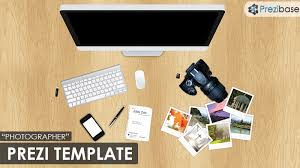 photographer prezi template work desk