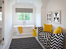 stunning black white bathroom rugs in contemporary decor image 14 of 15