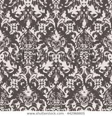 Damask Pattern Free Distressed Damask Pattern Seamless Background Tile Stock Vector