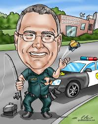 showcase your retiring police officer s hobbies and history in a funny retirement caricature unique and hilarious gift caricatures starting at 99 by