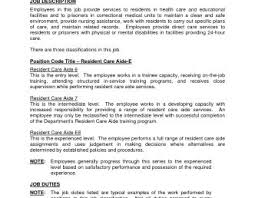 Templates Coroner Sample Job Description Aide Jobs Resumes