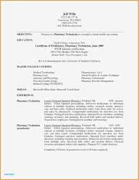 Resume Templates For Visual Artists Beautiful Gallery Pharmacist