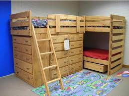 Bunk beds with dressers built in Stairs Sturdy Solid Wood Triple Lindy Bunk Beds With Lots Of Dresser Drawers For Storage Custom Built By Hand You Choose The Best Finish And Options For Your Pinterest Sturdy Solid Wood Triple Lindy Bunk Beds With Lots Of Dresser