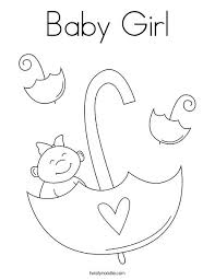 Baby Color Pages Baby Girl With Umbrella Coloring Page Boss Baby
