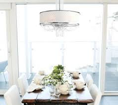 drum light chandelier allure crystal chandelier with silk drum shade contemporary drum light chandelier dining room
