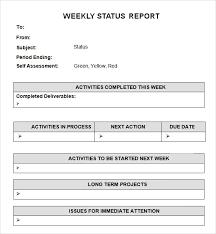 Sample Weekly Status Report Threeroses Us