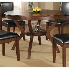coaster nelms 1 shelf dining table in walnut vignettes 32 inch round table awesome dining