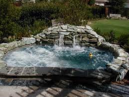 inground pools with waterfalls and hot tubs. Stone Hot Tub And Waterfall Inground Pools With Waterfalls Tubs